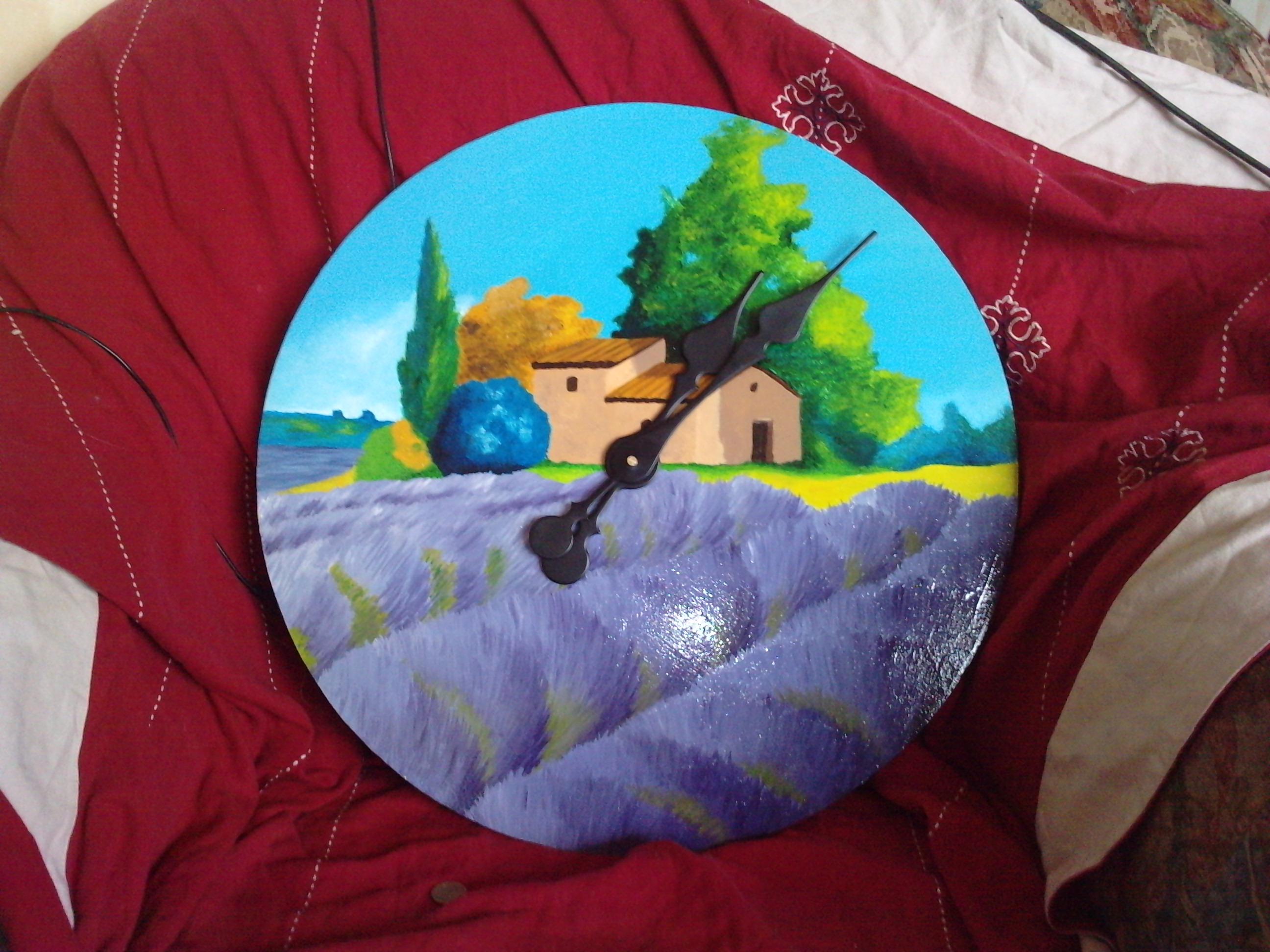 Acrylique et vernis Format 60 cm de diamètre
